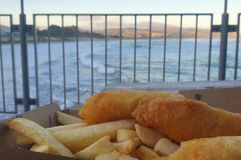 The best fish and chips in Dunners from the Tahuna Camp Store