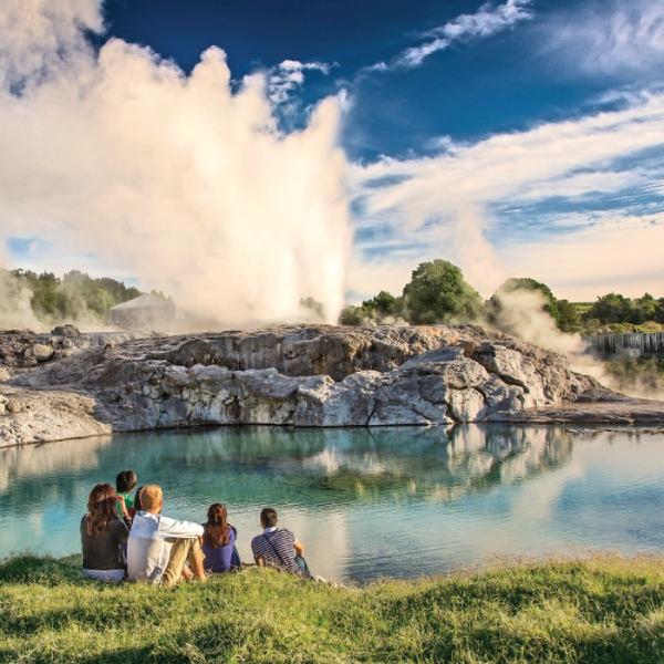Te Puia Geothermal Valley in Rotorua.