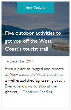 Five outdoor activities to get you off the West Coast's tourist trail