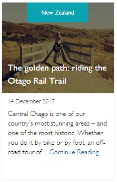 The golden path: riding the Otago Rail Trail