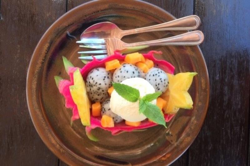 Colourful food at the Vaima Restaurant & Bar