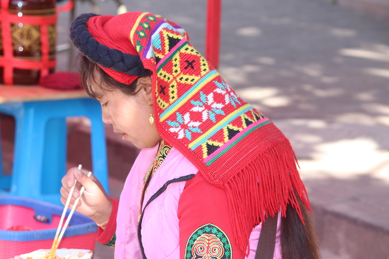 A young woman in Shaxi, Yunnan province.